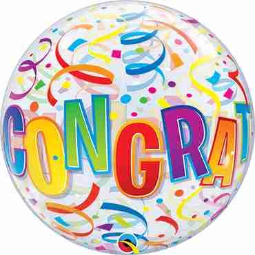 Congratulations Around Single Bubble 22in/55cm