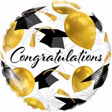 Congratulations Gold Balloons Foil Round 18in/45cm