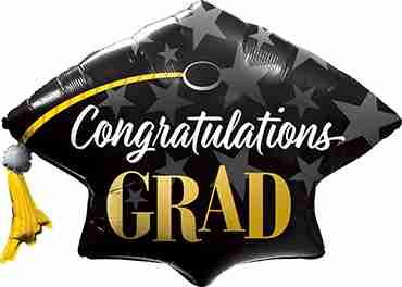 Congratulations Grad Stars Foil Shape 41in/104cm