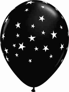 Contempo Stars Fashion Onyx Black Latex Round 11in/27.5cm