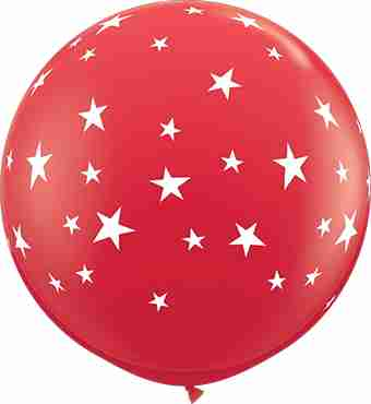 Contempo Stars Standard Red Latex Round 36in/90cm