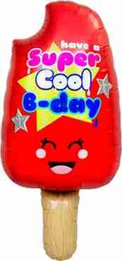 Cool B-Day Popsicle Foil Shape 34in/86cm