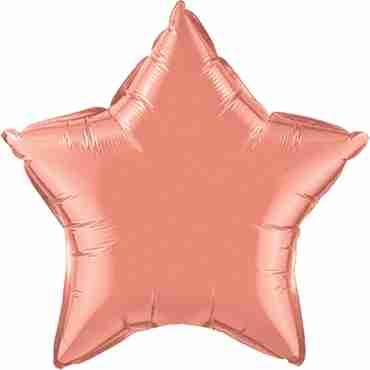 coral foil star 20in/50cm
