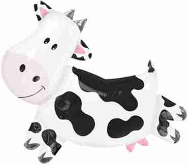 Cow Foil Shape 30in/76cm x 28in/71cm