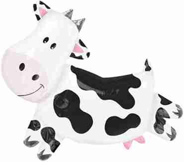 Cow Foil Shape 30in/76cm x 28in/71cm