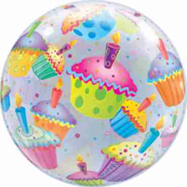 Cupcakes Single Bubble 22in/55cm