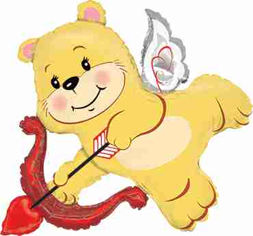 Cupid Bear Foil Shape 14in/36cm