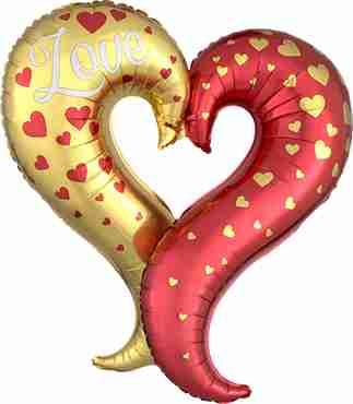 Curvey Heart Foil Shape 30in/76cm