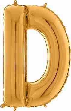 D Gold Foil Letter 26in/66cm