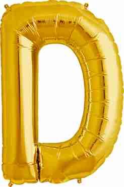 D Gold Foil Letter 34in/86cm