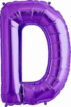 D Purple Foil Letter 34in/86cm