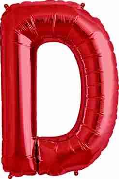 D Red Foil Letter 34in/86cm