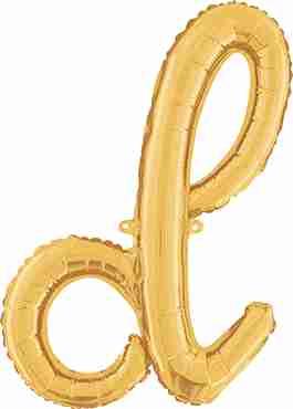 D Script Gold Foil Letter 24in/61cm