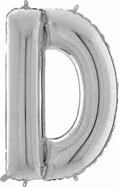 D Silver Foil Letter 26in/66cm