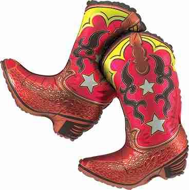 Dancing Boots Foil Shape 36in/91cm