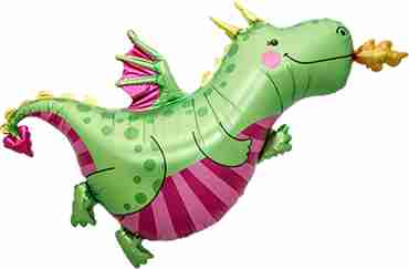 Daphne Dragon Foil Shape 47in/119cm