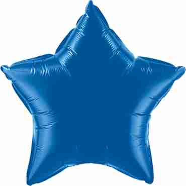 Dark Blue Foil Star 20in/50cm