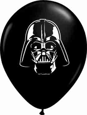 Darth Vader Face Fashion Onyx Black Latex Round 5in/12.5cm
