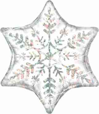 dazzling snowflake foil shape 22in/55cm