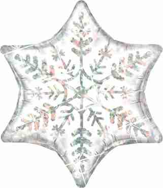 Dazzling Snowflake Foil Shape 36in/91cm