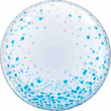 Deco Bubble Blue Confetti Dots 24in/60cm