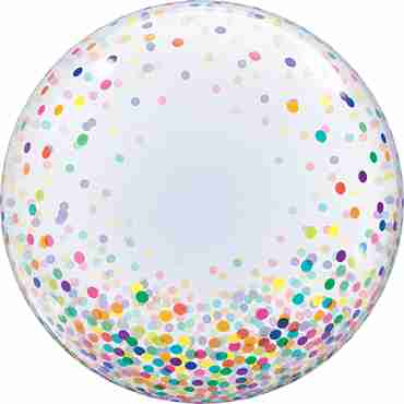 Deco Bubble Colourful Confetti Dots 24in/60cm