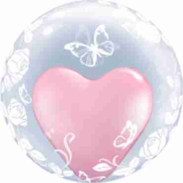 Deco Bubble Elegant Roses and Butterflies 24in/60cm