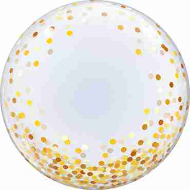 Deco Bubble Gold Confetti Dots 24in/60cm