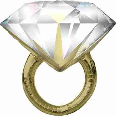 Diamond Wedding Ring Foil Shape 37in/94cm