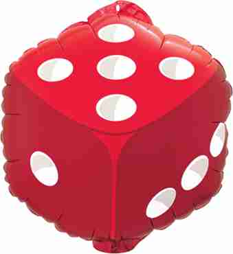 Dice Foil Shape 18in/45cm