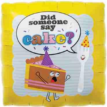 Did Someone Say Cake Foil Square 18in/45cm