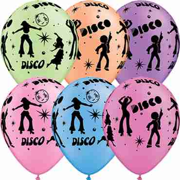 Disco Neon Assortment Latex Round 11in/27.5cm