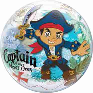 Disney Captain Of The Never Seas Single Bubble 22in/55cm
