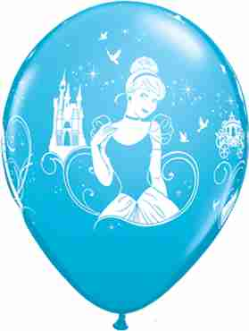 disney cinderella fashion robins egg blue latex round 11in/27.5cm