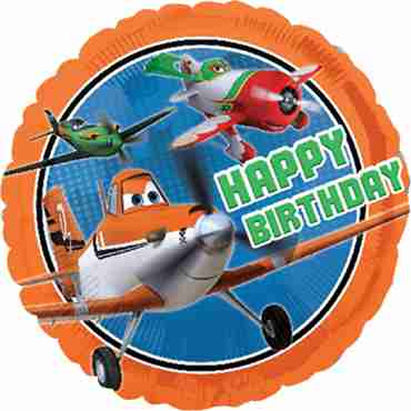 Disney Planes Happy Birthday Foil Round 18in/45cm