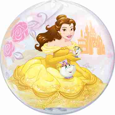 disney princess belle single bubble 22in/55cm