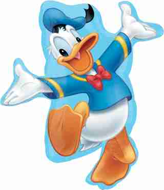 donald duck vendor foil shape 26in/66cm x 28in/71cm