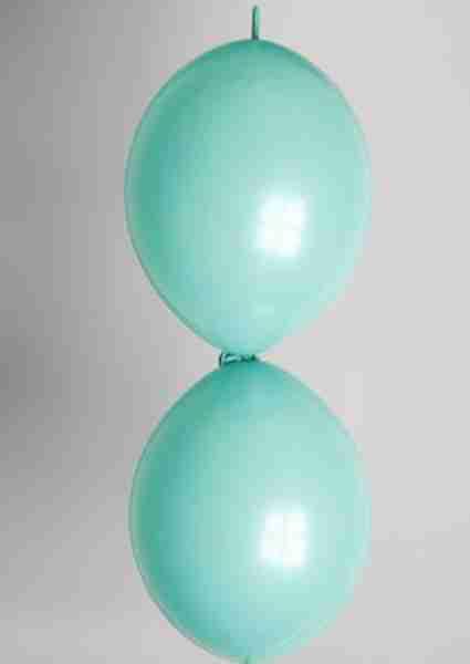 Doorknoopballon 25cm jadegroen