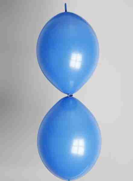 Doorknoopballon 25cm koningsblauw