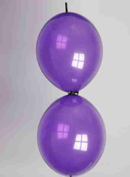 Doorknoopballon 25cm kristal donkerpaars