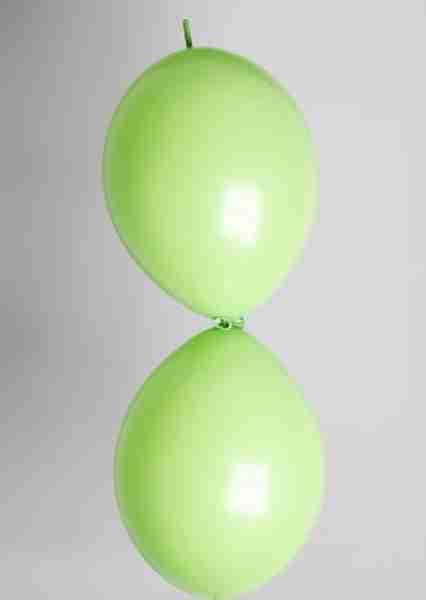 Doorknoopballon 25cm limoengroen