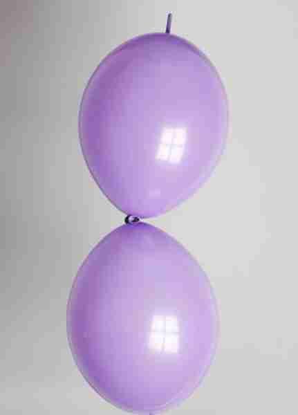 Doorknoopballon 25cm violet