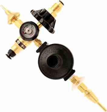 dual latex and foil regulator push valve