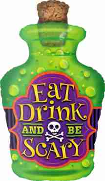 Eat Drink And Be Scary Foil Shape 40in/102cm