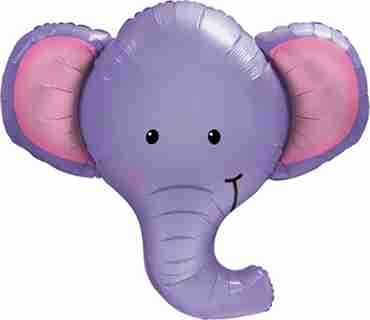 Ellie The Elephant Foil Shape 39in/99cm