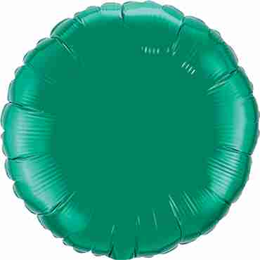 Emerald Green Foil Round 18in/45cm