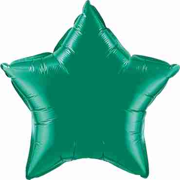 Emerald Green Foil Star 9in/22.5cm