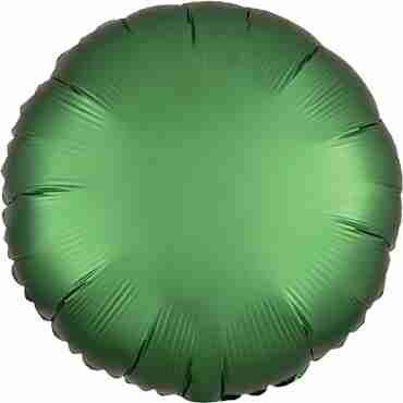 Emerald Satin Luxe Foil Round 17in/43cm