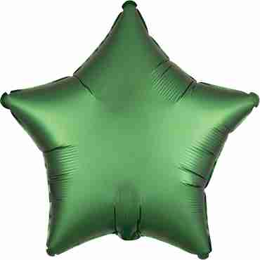 Emerald Satin Luxe Foil Star 17in/43cm