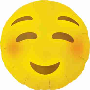 Emoji Blushing Foil Round 18in/45cm